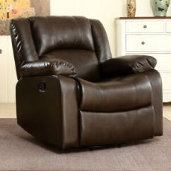 Rocker And Recliner Chair For Kid Room Leather Furniture Ebay Bonded Faux Swivel Glider Living Brown