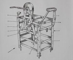 Hand cable reeling machine. No.3.MK3.Code No.14800