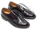 NOS VINTAGE BURGUNDY CORFAM LONG WING TIP V-CLEAT VCLEAT MENS DRESS SHOES 10.5 D