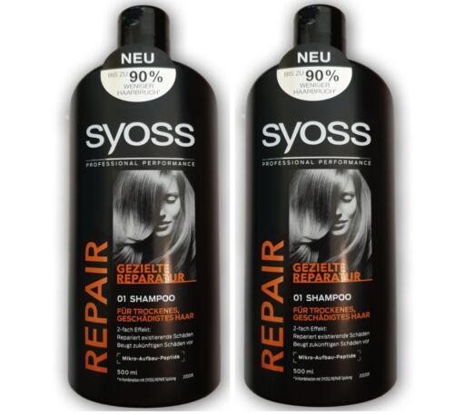 Syoss/Repair Shampoo 2x500ml/Haarpflege