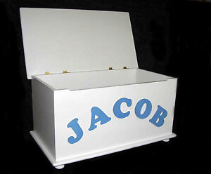 Large Hand Made Childrens Wooden Toy Box Personalised