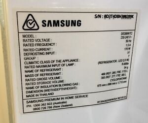 Samsung Refrigerator Needs To Be Collected 11 12 January