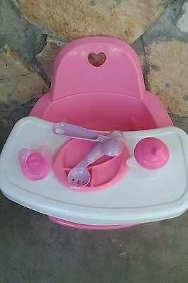baby alive high chair staples executive feeding with extras for dolls no doll included