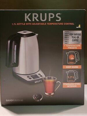 KRUPS BW3140 SAVOY Adjustable Temperature LCD Display Electronic Kettle
