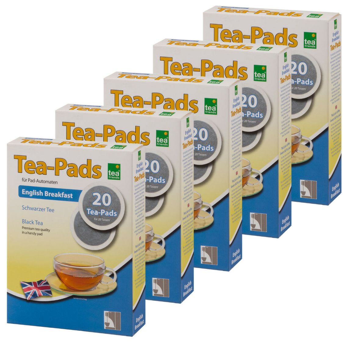 100 Tee Pads (5Pkg)  -ENGLISH BREAKFAST- Tea-Pad  Tea-Friends - Senseo geeignet