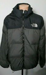 Vintage The North Face Gray 700 Goose Down Nuptse Jacket Mens Size XL