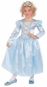 Blue Princess Costume Cinderella Halloween Dress Girls Kids Child Size Medium M