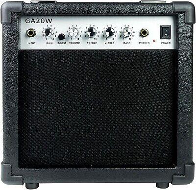 GA-20W 20 Watt Guitar Amplifier with Headphone Output and Effects