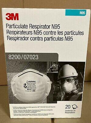 3M 8200 N95 Particulate Respirator Face Masks 20 Masks/Box, EXP. 2025