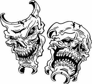 Happy Sad Evil Face Skull Joker Car Boat Truck Laptop