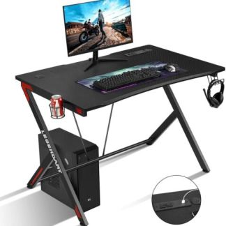 "45""Gaming Desk Computer Table PC Laptop Ergonomic Racing Style Gamer Workstation"
