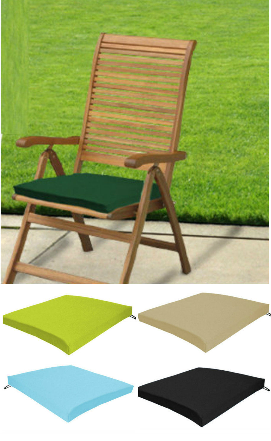 lime green chair pads handicap pool garden patio set waterproof replacement seat & bench cover | ebay