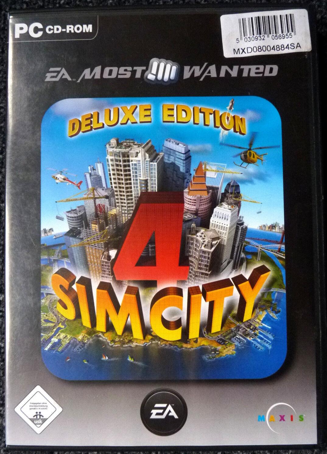 SimCity 4 Deluxe Version für PC als Doppel-CD in sehr gutem Zustand EA-Games