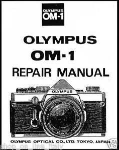 OLYMPUS OM1 MANUALE RIPARAZIONE SU CD CAMERA SERVICE