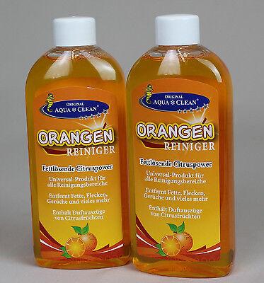 2 x Aqua*Clean Orangenreiniger Fleckentferner Konz. Orangenölreiniger Fettlöser