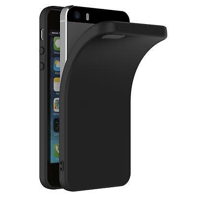 Ultra Slim Case iPhone 5 5S SE Handy Hülle Schutzhülle Silikon Schwarz Tasche