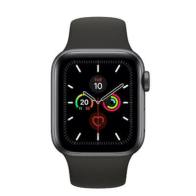 NUEVO Apple Watch Series 5 44mm GPS Space Gray Aluminum Case Sport Band MWVF2