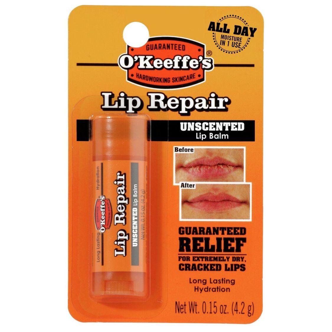 O'Keeffe's Lip Repair Balm Balsam für extrem trockene, spröde & rissige Lippen