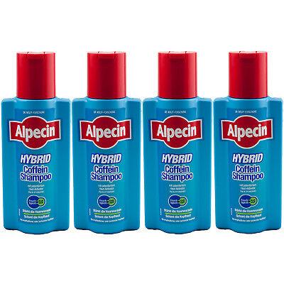 Alpecin Hybrid Coffein Koffein Shampoo stärkt die Haarwurzeln 4 x 250 ml Dr.Wolf