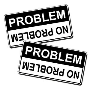 No-Problem-Warning-Sticker-Decal-RZR-Can-Am-Polaris-Mud