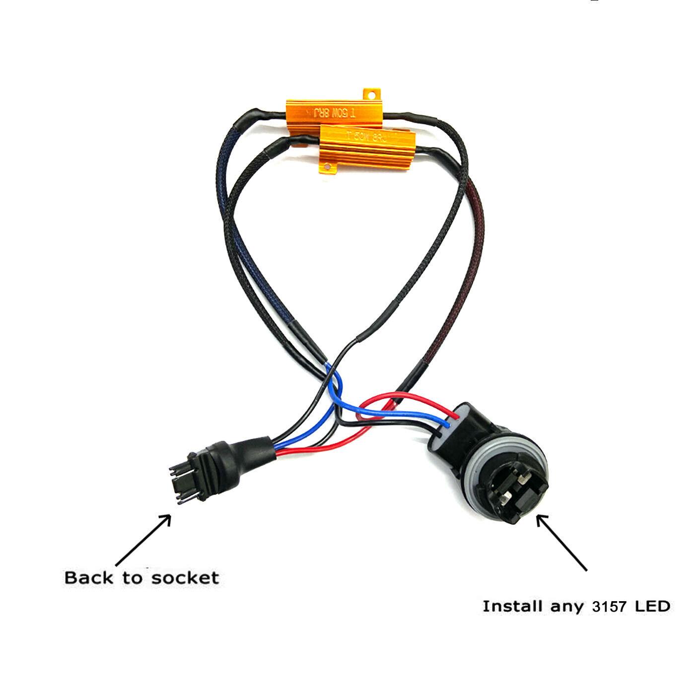 2X 3157 4157 LED Decoder Load Resistor For LED Turn Signal