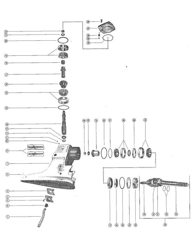 45571 Sleeve, Upper Drive Shaft Mercruiser 120/140 1967