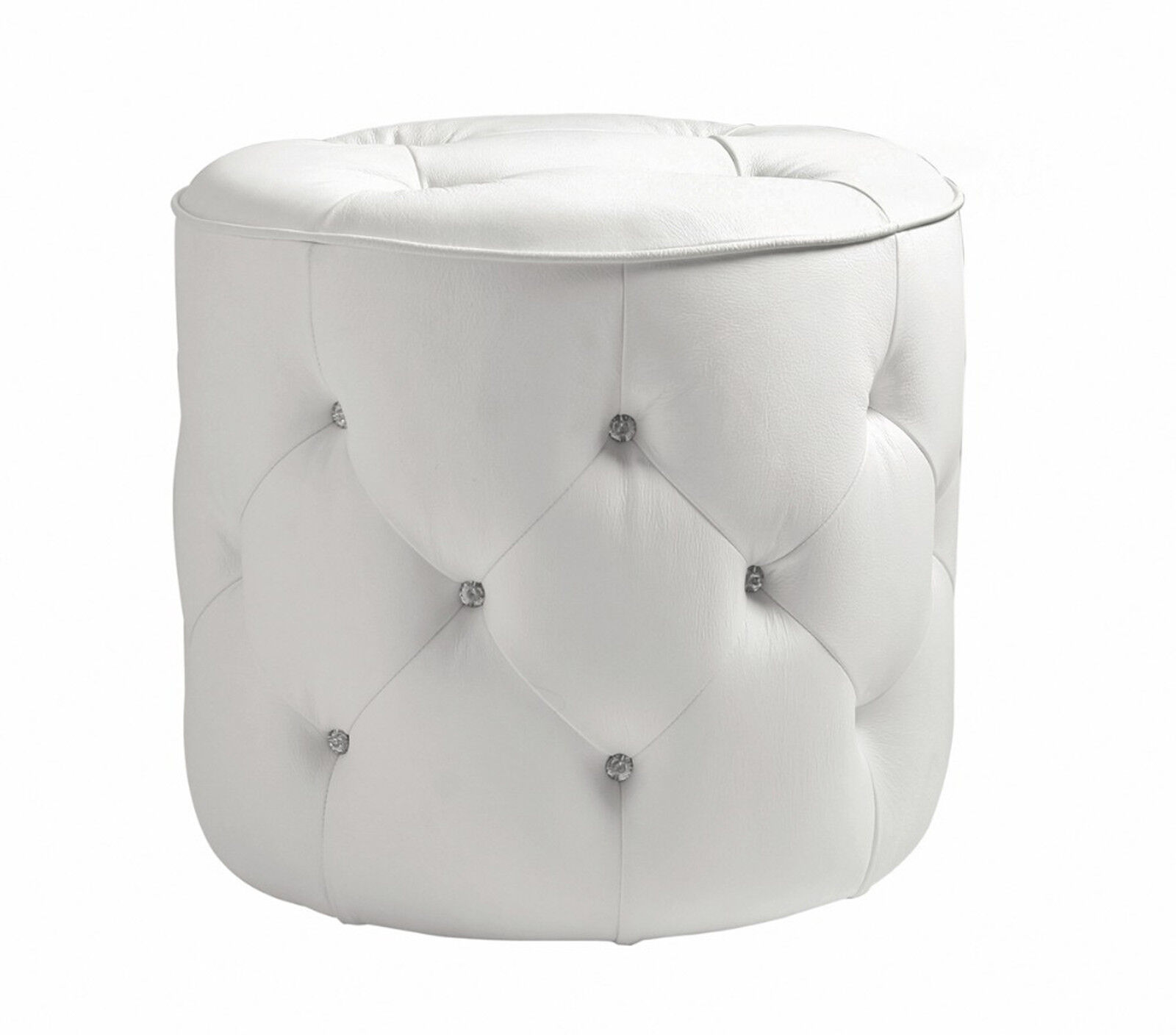 akhtar furniture wooden sofa pillows for white leather diamante crystal glass button round upholstery headboard