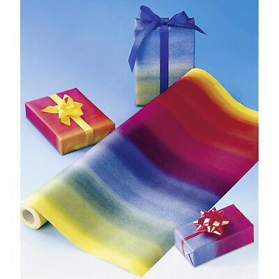Wenko Geschenkpapier Regenbogen 15m x 50 cm Verpackung Geschenkverpackung