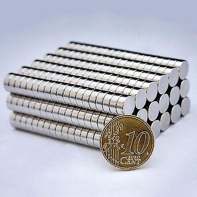 Neodym Magnete Super Magneten Haltemagnete 8 x 3 mm 20 50 100 Stück wählbar