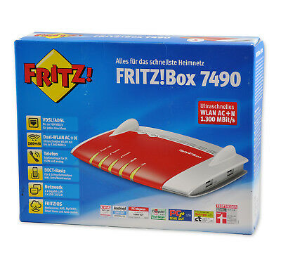 AVM fritzbox 7490 1300 Mbps WLAN Router / Fritz!Box VDSL/ADSL  FRITZBox 7490