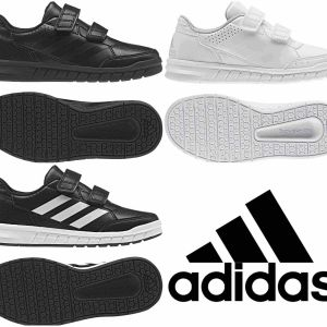 Adidas Boys Shoes Kids Altasport School Casual Running Trainers Black White   57