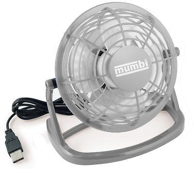 mumbi USB Ventilator Mini Tisch Venti Fan f. Computer Notebook Laptop grau