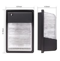 16W/25W Dusk to Dawn LED Wall Pack, Photocell Outdoor LED ...