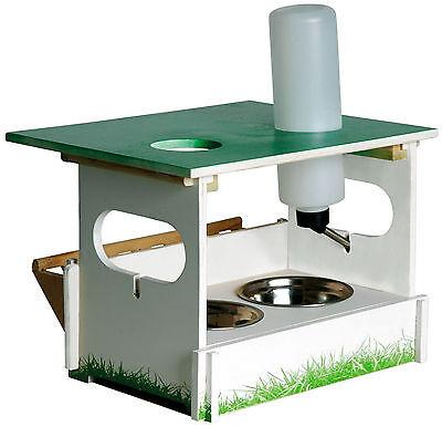 Futterbar Nager Futterstation Set 2x Nagernapf Heuraufe Trinkflasche Kaninchen
