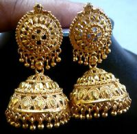 South Indian Bridal 22k Gold Plated 4 cm Long Ball Bead ...