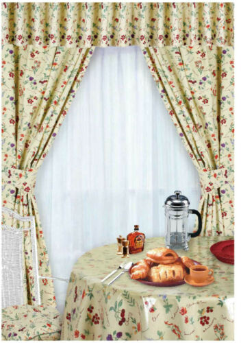 kitchen curtain espresso table set curtains ebay ready made