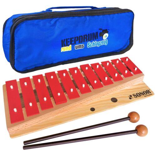Sonor G10 Glockenspiel Kinder Sopran (Ve20) c3-f4 + KD Bag Tasche