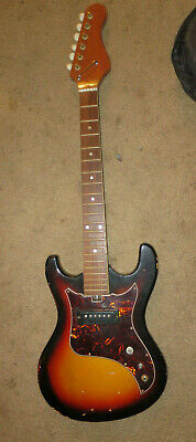 Teisco type single pickup electric guitar project (Not working) with gig bag