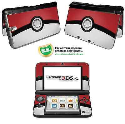 Pokémon Pokeball Vinyl Skin Aufkleber für Nintendo 3DS XL