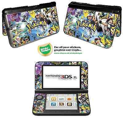 Pokémon Vinyl Skin Aufkleber für Nintendo 3DS XL