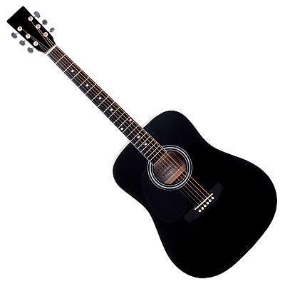 Superschöne Dreadnought Westerngitarre für Linkshänder Anfänger Gitarre schwarz