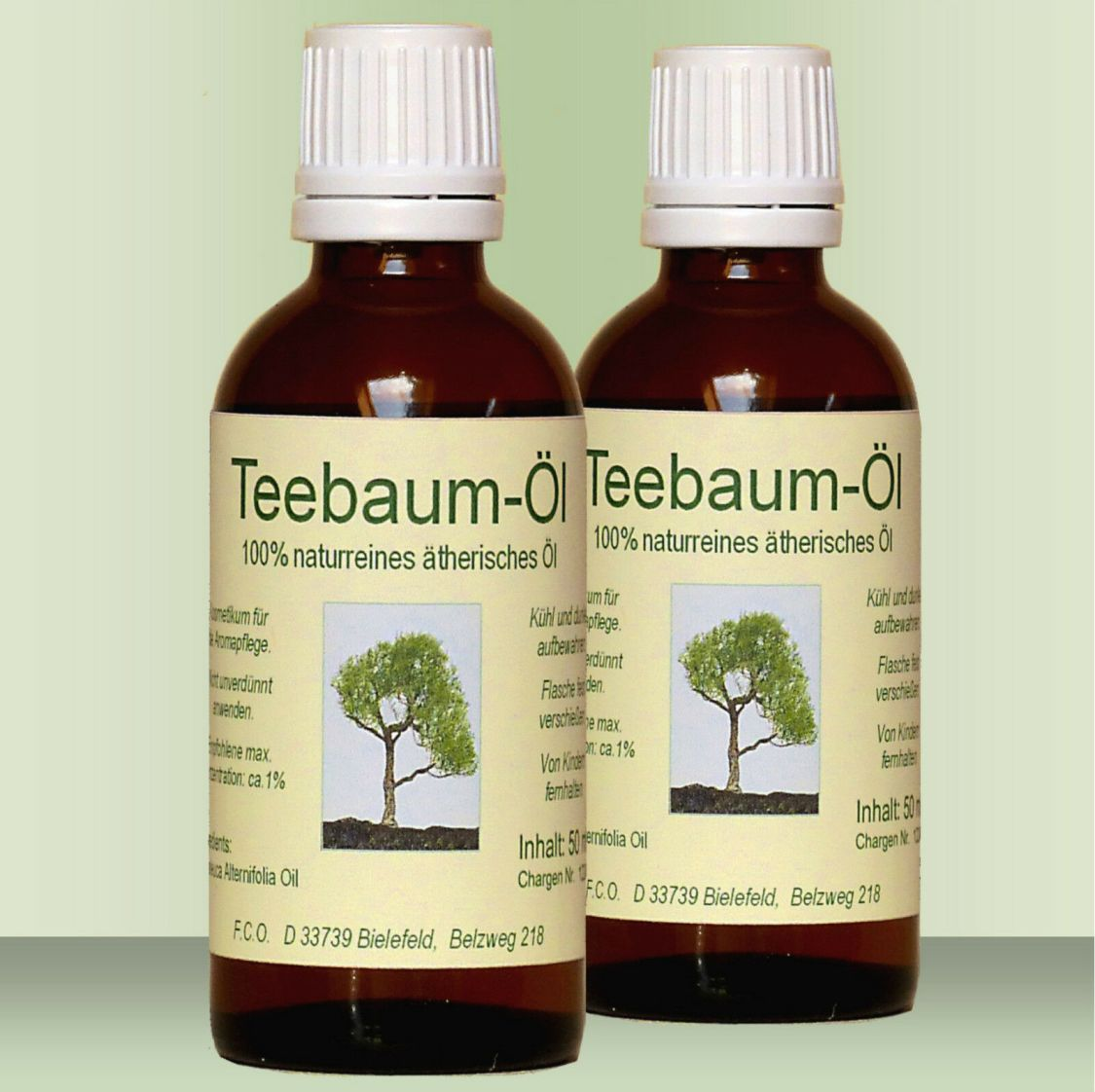 Teebaum Öl Teebaumöl, 2 x 100 ml, 100% naturreines ätherisches Öl (Australien)