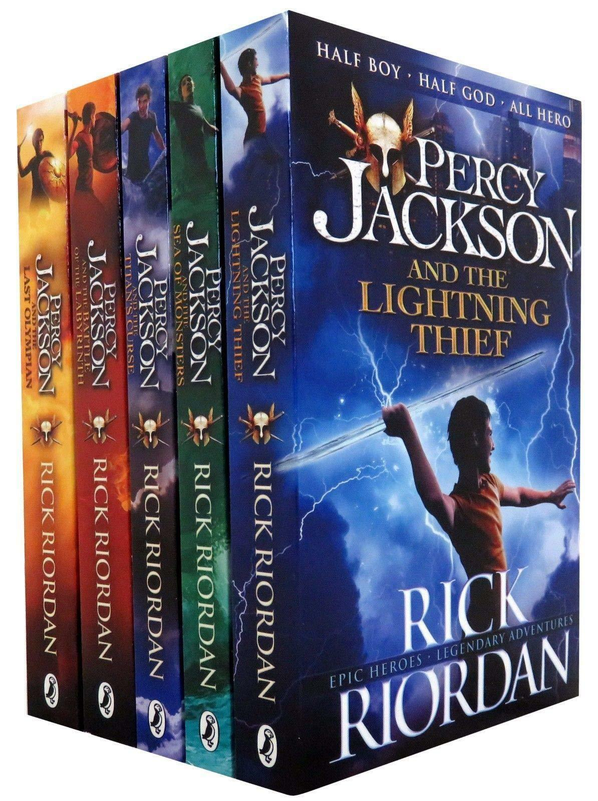 Percy Jackson And The Olympians 5 Books Collection Set The