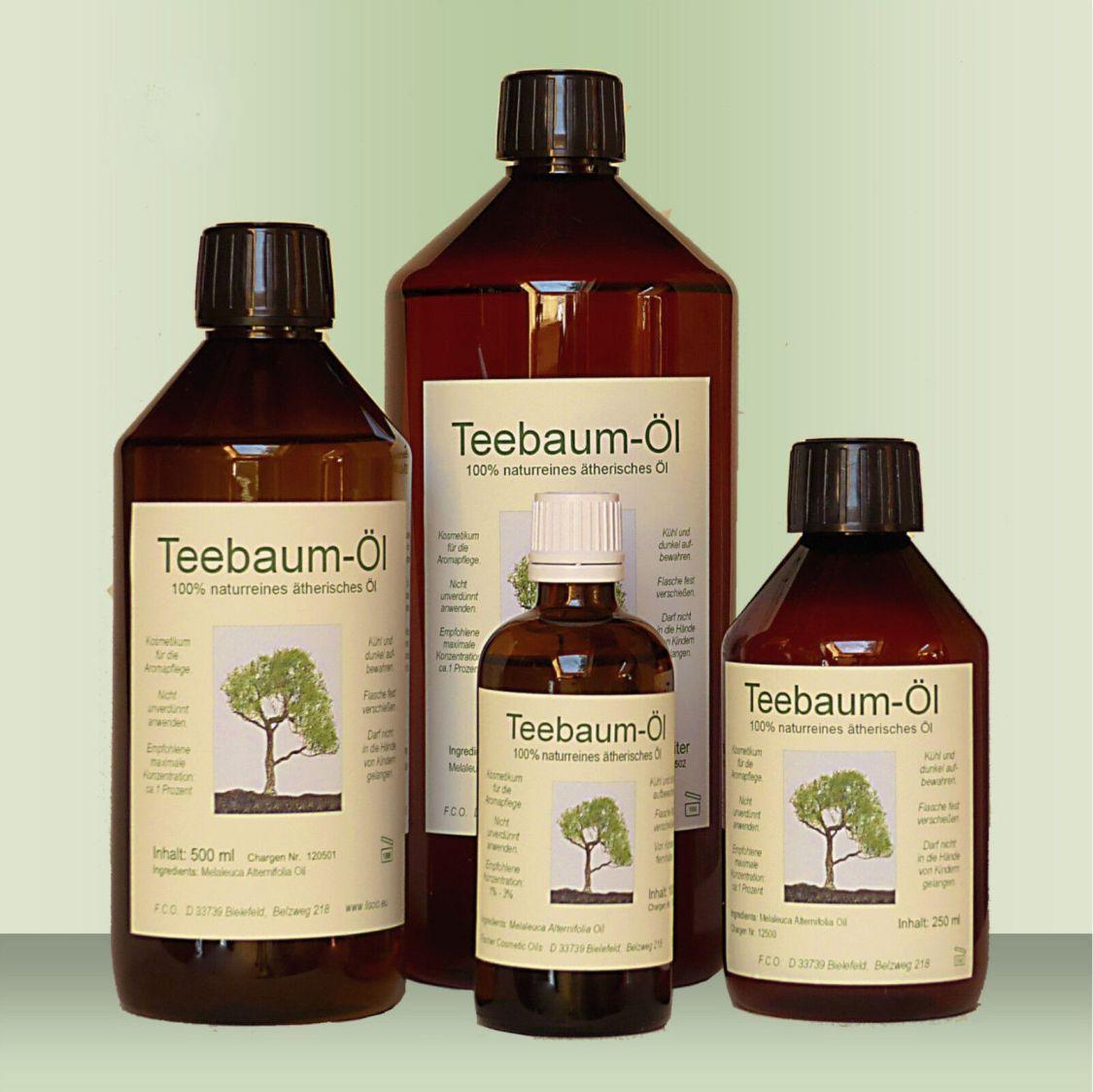 Teebaum Öl Teebaumöl 50 - 1000 ml, 100% naturreines ätherisches Öl (Australien)