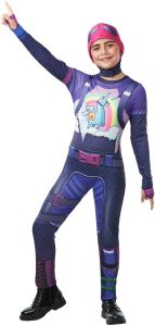 Girls Teen Fortnite Brite Bomber Gamer Halloween Fancy Dress Costume Outfit