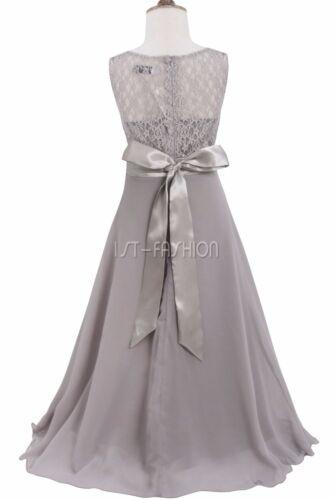 Blumenmdchen Kleid Mdchen Lange Maxi Abendkleid