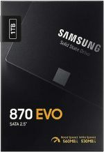 SAMSUNG 870 EVO 1TB SSD 2.5 Inch SATA III Internal  (MZ-77E1T0B/AM)