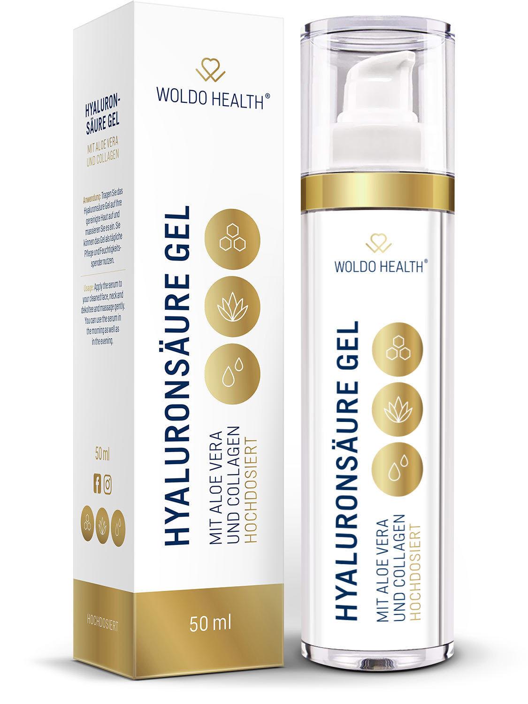 Hyaluron Serum mit Aloe Vera Collagen hochdosiert Gel Anti Aging Creme Pflege