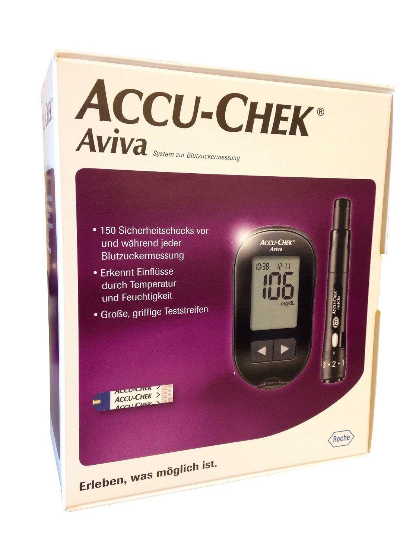 Accuchek Aviva Blutzuckermessgerät mg/dl inkl. 10 Teststreifen