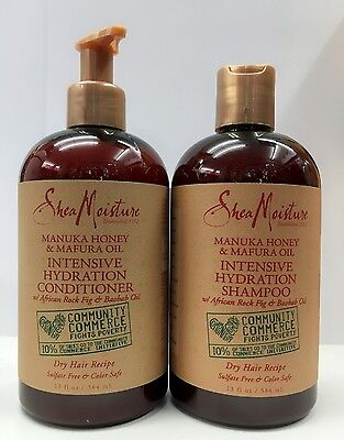 Shea Moisture Manuka Honig &mafura Öl Intensiv Hydration Shampoo und Spülung